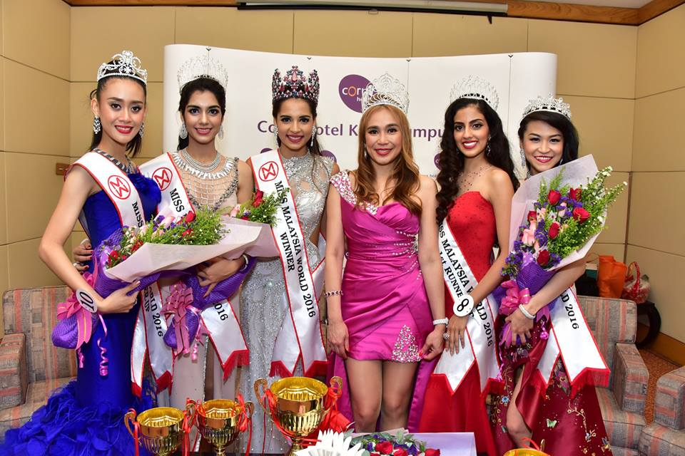 Miss Malaysia World 2016 winners with with Miss Malaysia World 2016 National Director & Franchise Holder Dato Anna Lim